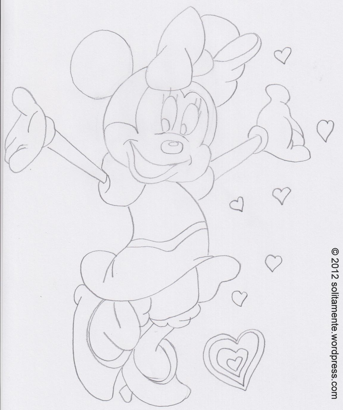 Colorare go mamma for Minnie da colorare per bambini