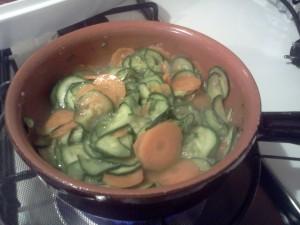 Farfalle carote zucchine