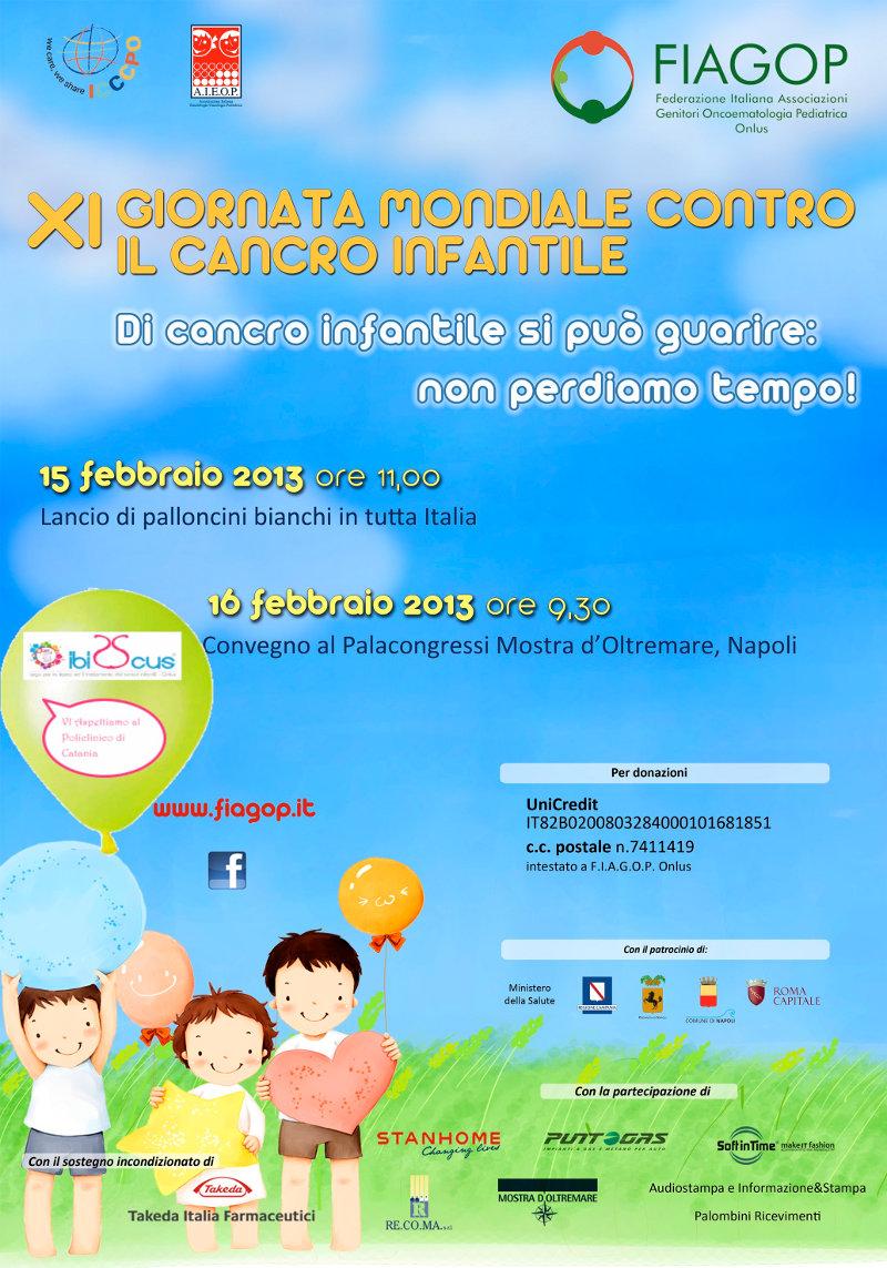 XI Giornata Mondiale contro il Cancro infantile - 2013