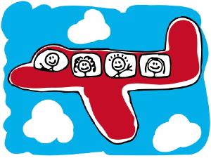 volare-con-bambini